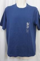 Club Room Men's T-Shirt Sz S Tsunami Blue Crew Neck Cotton Classic Tee S... - $8.79