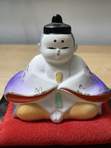 Pair of Vintage Hina Dolls from Japan image 5
