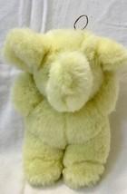 """Vintage stuffed plush Nanco yellow elephant fair prize? 9"""" - $14.69"""