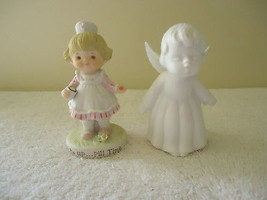 Vtg. Lot Of 2 Collectible Ceramic Figurines,1,Little Girl Nurse,1,Lefton... - $18.69