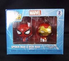 Funko Pint Size Heroes Marvel Keychain 2 pack Spider-Man & Iron Man Keyring - $12.16