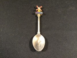 Vintage Holland Windmill 3D Collectible Silver Spoon Souvenir - $16.99