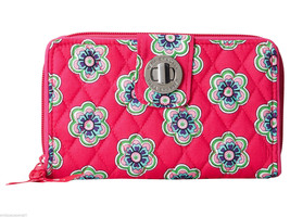 Vera Bradley Turn Lock Wallet in PINK SWIRLS FL... - $38.21