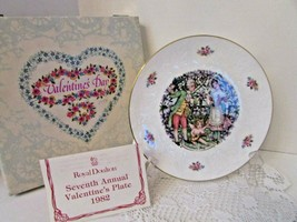 ROYAL DOULTON BONE CHINA COLLECTOR PLATE VALENTINE'S DAY 1982 ENGLAND BOXED - $14.80