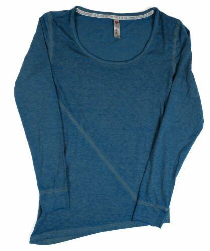 Small Women's Luv 4 Anouka Long Sleeve Tee Shirt Heathered Teal NEW
