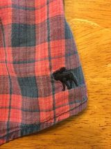 Abercrombie Kids Girl's Blue & Pink Plaid V-Neck Dress Shirt - Medium image 11