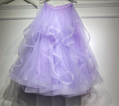 Layered Tulle Skirt Princess Outfit Plus Size Wedding Outfit Purple Tiered Skirt image 9