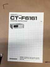 Pioneer CT-F6161 Owners Manual *Original* - $15.80