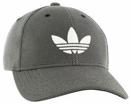 adidas Men's Originals Trefoil Plus Precurve Structured Cap, Black Dot K... - $20.99