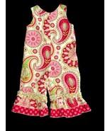 Southern Tots Paisley Romper Rhumba Girls 9 Mos Summer Pink Green - $14.84
