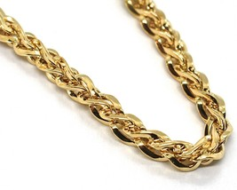 18K YELLOW GOLD BRACELET, BRAID, ROPE, THICKNESS 6 MM, TWISTED, SHOWY, WAVY image 2