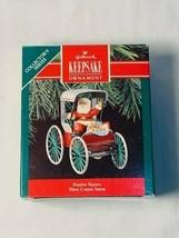 """Hallmark """"Festive Surrey"""" Here Comes Santa Ornament 1990 #12 Brand New - $8.60"""
