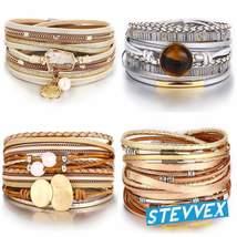Legendary Amazing New Modern Fashion Pearl Elegant Multi-Layer Leather H... - $25.99