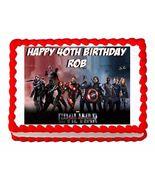 Avengers Civil War Edible Cake Image Cake Topper - $8.98+