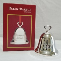 Reed & Barton Christmas 2008 Silverplated Bell Ornament in Box - $35.99