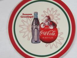 "Coca-Cola 8"" Christmas Plate ""Seasons Greetings"" - FREE SHIPPING - $13.85"
