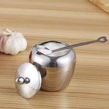 Kitchen Sugar Bowl Apple-shape Stainless Steel - Condiments Container wi... - $16.76