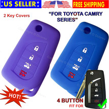 Silicone Entry Cover Case Fob Protector for Toyota 2019 2020 Camry Flip Fold Key - $12.84