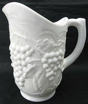 Vintage IG Imperial Grapes & Cable Milk Glass Pitcher Large Iced Tea Lem... - $60.00