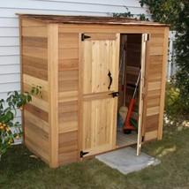 Outdoor Lean-To Storage Shed Wooden Garden Tools Adjustable Shelves Door... - $2,161.23