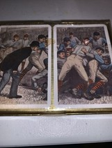 VINTAGE FOOTBALL PIATNIK PLAYING CARDS~MADE IN AUSTRIA~NEW IN WRAPPED PA... - $9.99