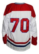 Any Name Number Nova Scotia Voyageurs Retro Hockey Jersey New White Any Size image 2