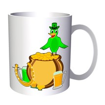 St Patricks Day Bird Art 11oz Mug o125 - $10.83