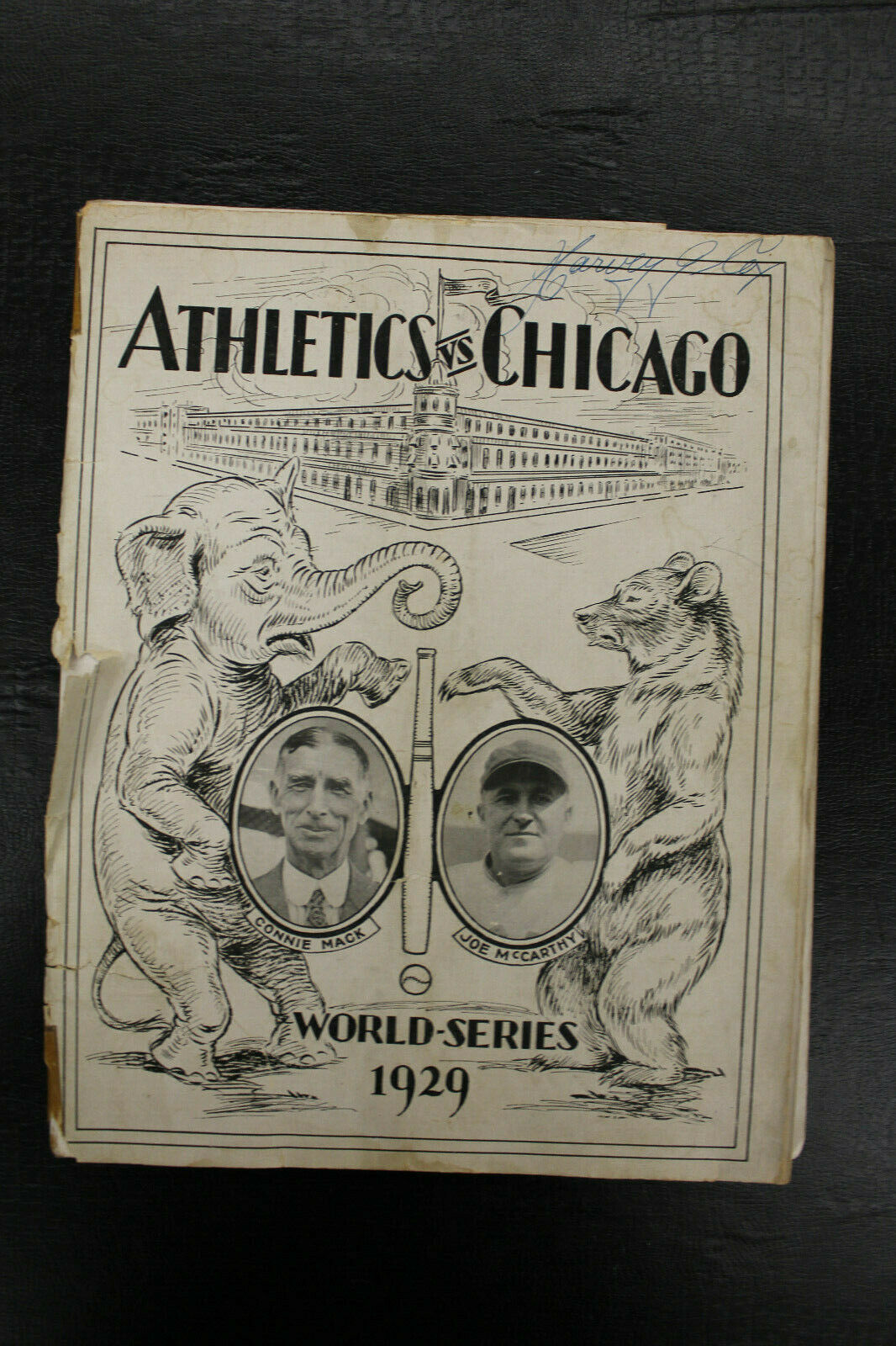 Primary image for 1929 World Series Program A's vs Cubs SHIBE PARK Connie Max Foxx Joe McCarthy