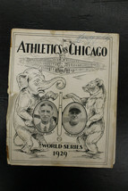 1929 World Series Program A's vs Cubs SHIBE PARK Connie Max Foxx Joe McC... - $1,633.50