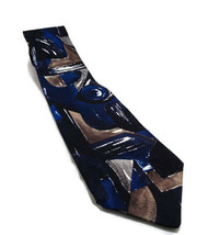 "Van Heusen 100% Silk Classic Collection Blue Brown Black Neck Tie 3.75"" ... - $8.90"