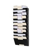 Wallniture Lisbon Wall Mounted Steel File Holder - Organizer Rack 10 Sec... - £72.35 GBP