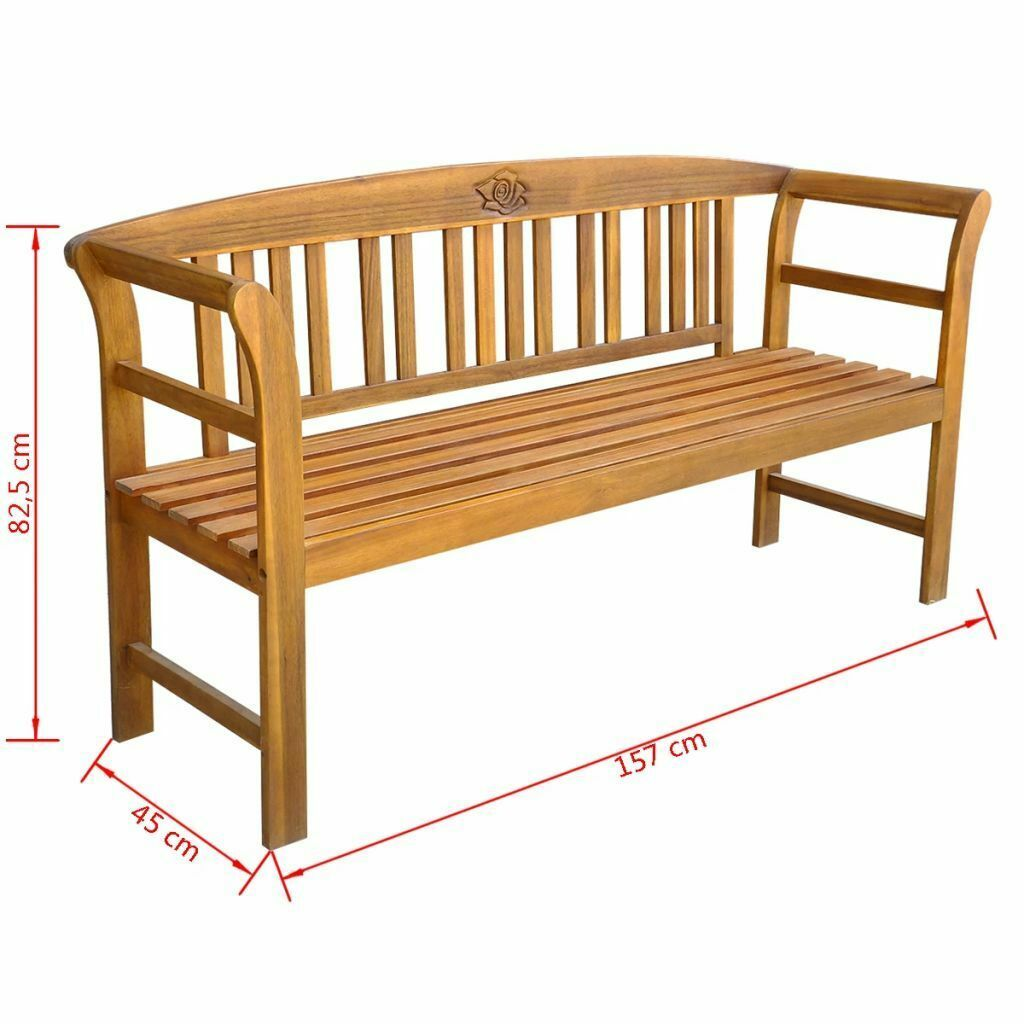 6 Foot Wood Patio Bench Garden Backyard Wooden Loveseat Outdoor Furniture Chair