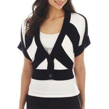 Worthington 2-Button Textured Cardigan Black/White Sweater Size S New - $19.88 CAD