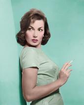 Gianna Maria Canale Elegant vintage color portrait holding cigarette 8x10 Photo - $7.99