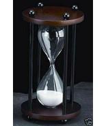 Bey Berk DECOR 10 MINUTE HOUR GLASSS WHITE SAND TIMER WALNUT NEW - $44.95