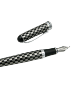 Jinhao x750 Black white square Silver Trim chess board Calligraphy Nib F... - £5.71 GBP