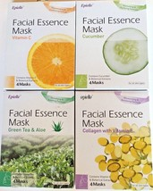 Caraway Epielle Face Mask Facial Essence  Assorted  Extracts 4 Packs  - $7.99