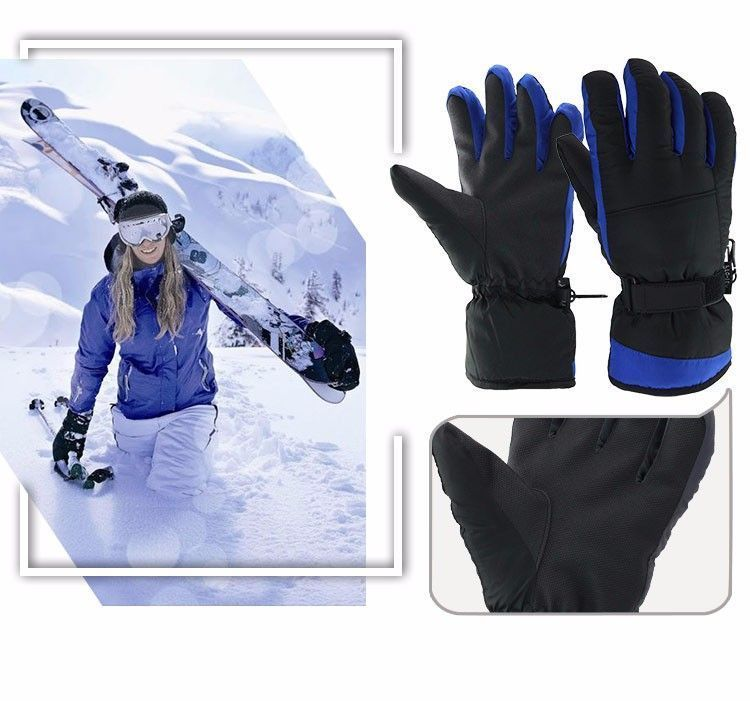 Winter Warm Ski Glove -30 Degree Windproof Waterproof Unisex Security Protection image 2