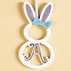 "Monogram Bunny Wall Hanging- ""A"""