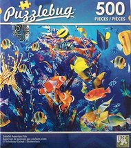 Colorful Aquariam Fish Puzzlebug Jigsaw Puzzle 500 pieces - $7.13