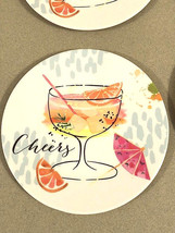 "Melamine Tidbit Appetizer Dessert Plates 6"" Set of 6 Beach House CHEERS ... - $19.68"
