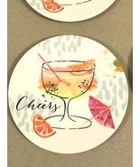 "Melamine Tidbit Appetizer Dessert Plates 6"" Set of 6 Beach House CHEERS ... - $19.68"