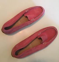 Rockport AdiPRENE Pink Leather Slip On Suede Loafers Driving Flats Women... - $9.89