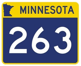 Minnesota State Highway 263 Sticker Decal R5006 Highway Route sign - $1.45+