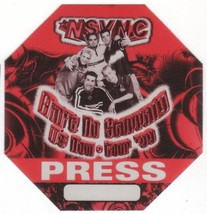 N SYNC n sync backstage Satin Cloth PASS tour collectible PRESS - $11.39