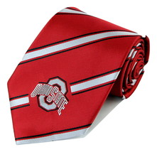 Ohio State Buckeyes Mens College Necktie University Logo Striped Red Nec... - €29,04 EUR
