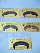 Moustache Human Hair Rubies Theatrical Stage Historical Grey Black Brown  2028 - $9.75