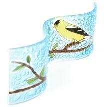 Fused Art Glass Goldfinch Yellow Finch Wavy Decor Sun Catcher Handmade Ecuador image 5