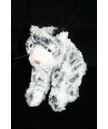 "K & M Intl TIGER 7"" Plush Stuffed Animal Black and White Striped Small C... - $15.45"