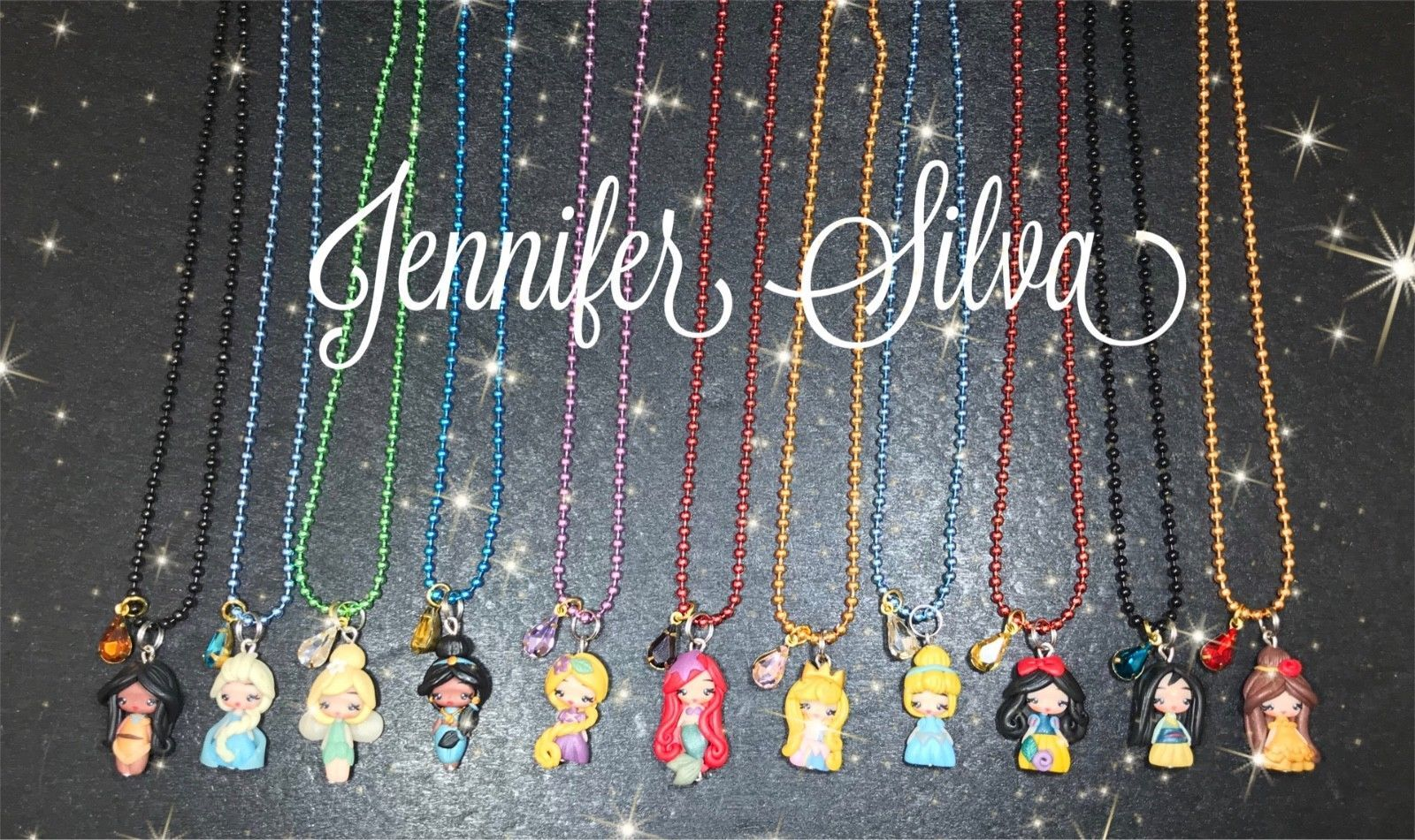 Disney Princess Clay Charms Necklace